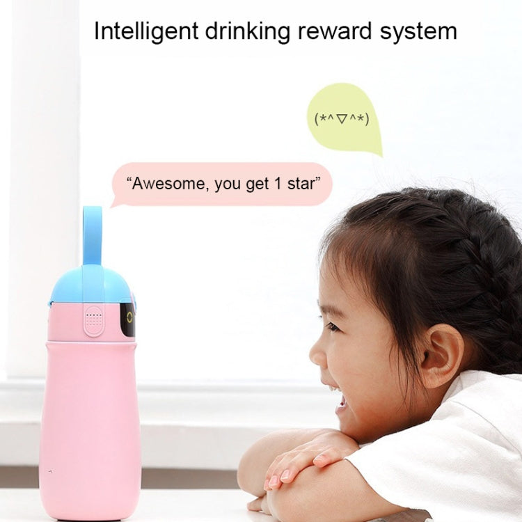 SGUAI Portable Children Intelligent Voice Reminder Vacuum Thermal Cup Water Bottle (Pink) - Star Produkte