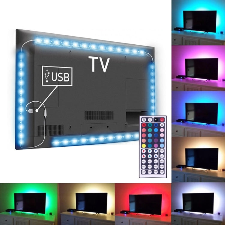 4 x 50cm USB TV Epoxy Rope Light, Wide: 10mm, 3W IP65 Waterproof 30 LEDs SMD 5050 with 44-keys Remote Controller(Colorful Light) - star-produkte.myshopify.com