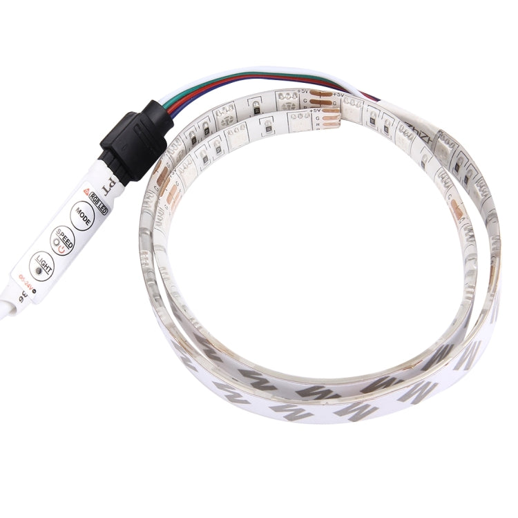 50cm 3W USB TV Rope Light , Epoxy IP65 Waterproof 30 LED 5050 SMD with 1m Extended Switch Cable & Manual Controller, Wide: 10mm(Colorful Light) - star-produkte.myshopify.com