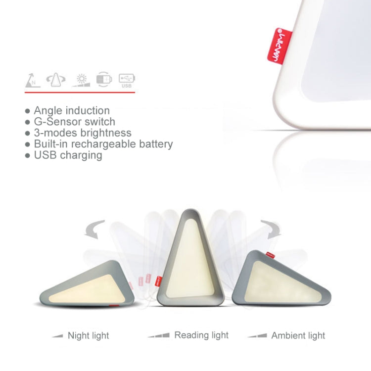 USB Charging Flip Lamp G-sensor LED Light (White) - Star Produkte