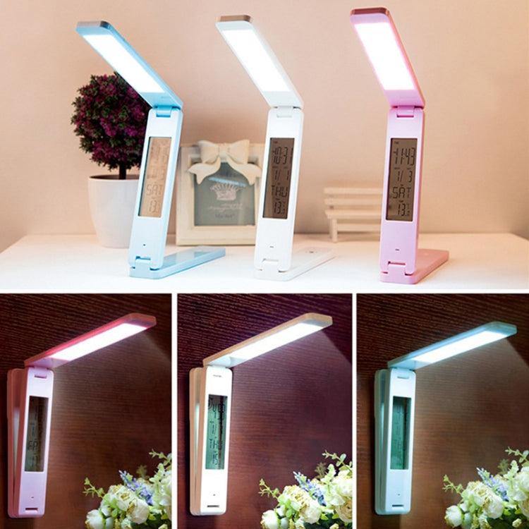 LED Desk Lamp Folding Touch Adjust USB Charging Eye Protection Table Lamp(Pink) |