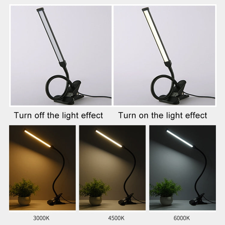 LED Desk Lamp 8W Folding Adjustable Eye Protection Table Lamp, USB Plug-in Version + Power Plug(White) |