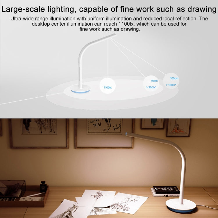 Original Xiaomi Mijia 2S LED Desk Lamp Smart Folding Adjust Reading Table Lamp Brightness Lights, US Plug (White Light) |