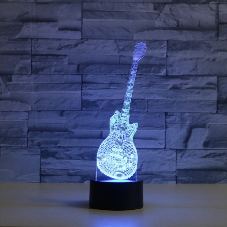 Guitar Shape 3D Colorful LED Vision Light Table Lamp, 16 Colors Remote Control Version - star-produkte.myshopify.com