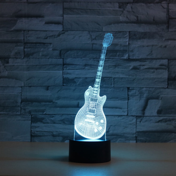 Guitar Shape 3D Colorful LED Vision Light Table Lamp, Crack Touch Version - star-produkte.myshopify.com