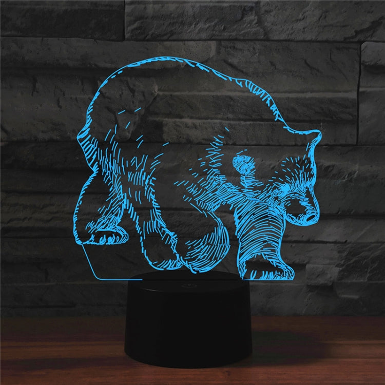 Bear Shape 3D Colorful LED Vision Light Table Lamp, Charging Touch Version - star-produkte.myshopify.com