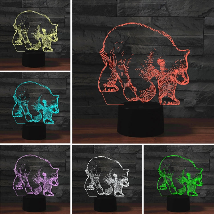 Bear Shape 3D Colorful LED Vision Light Table Lamp, Crack Remote Control Version - star-produkte.myshopify.com