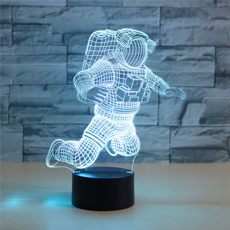 Astronaut Shape 3D Colorful LED Vision Light Table Lamp, 16 Colors Remote Control Version - star-produkte.myshopify.com