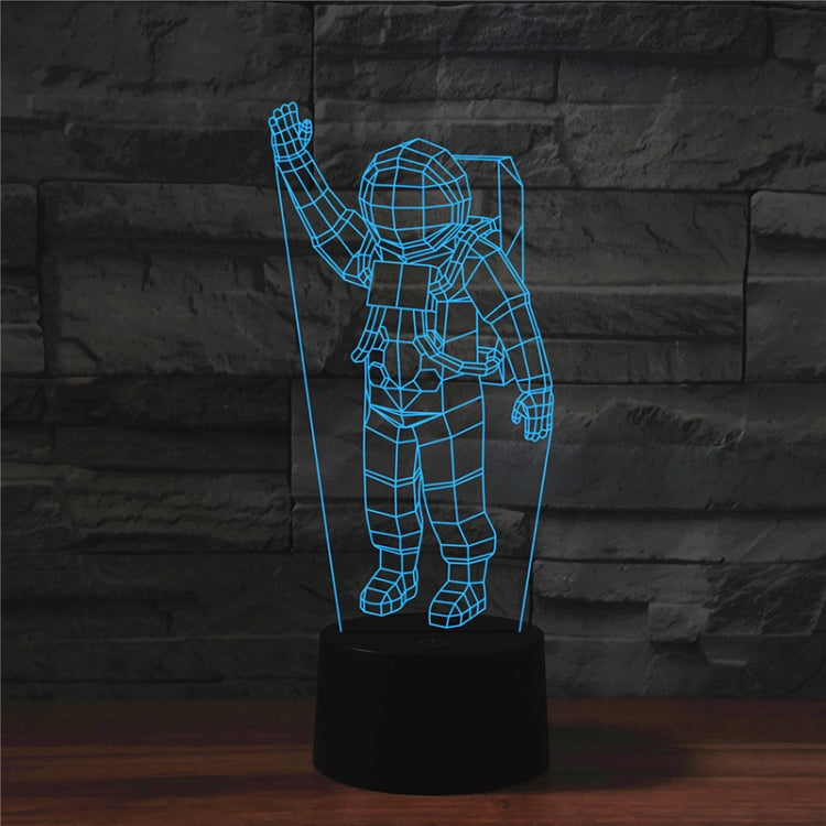 Astronaut Shape 3D Colorful LED Vision Light Table Lamp, Crack Remote Control Version - star-produkte.myshopify.com