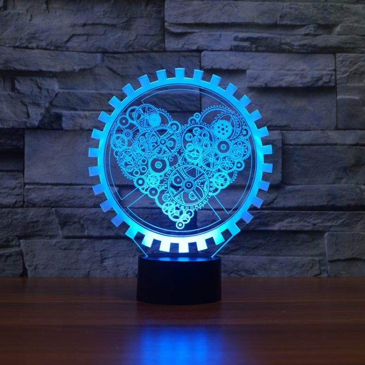 Gear Heart Shape 3D Colorful LED Vision Light Table Lamp, Touch Version - star-produkte.myshopify.com