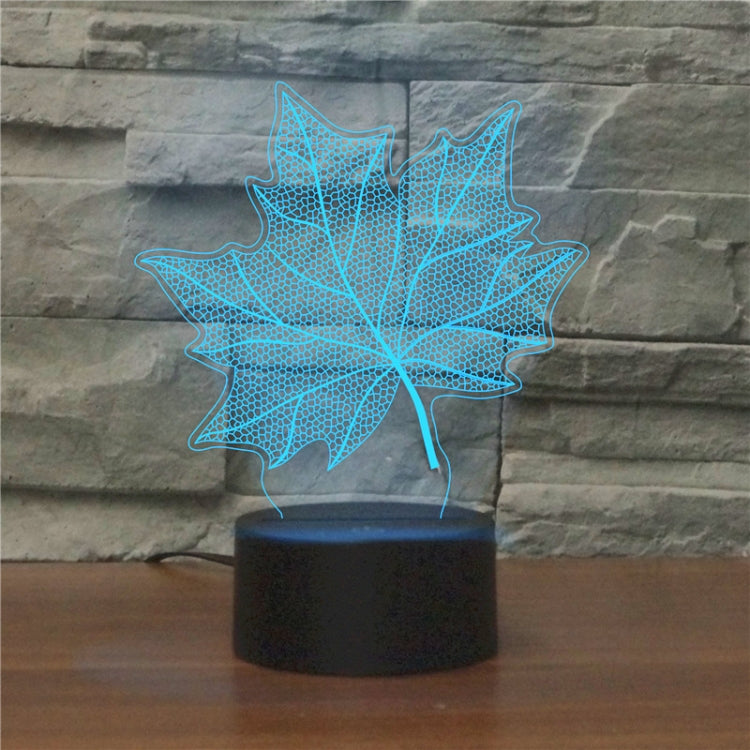 Maple Leaf Shape 3D Colorful LED Vision Light Table Lamp, Charging Touch Version - star-produkte.myshopify.com