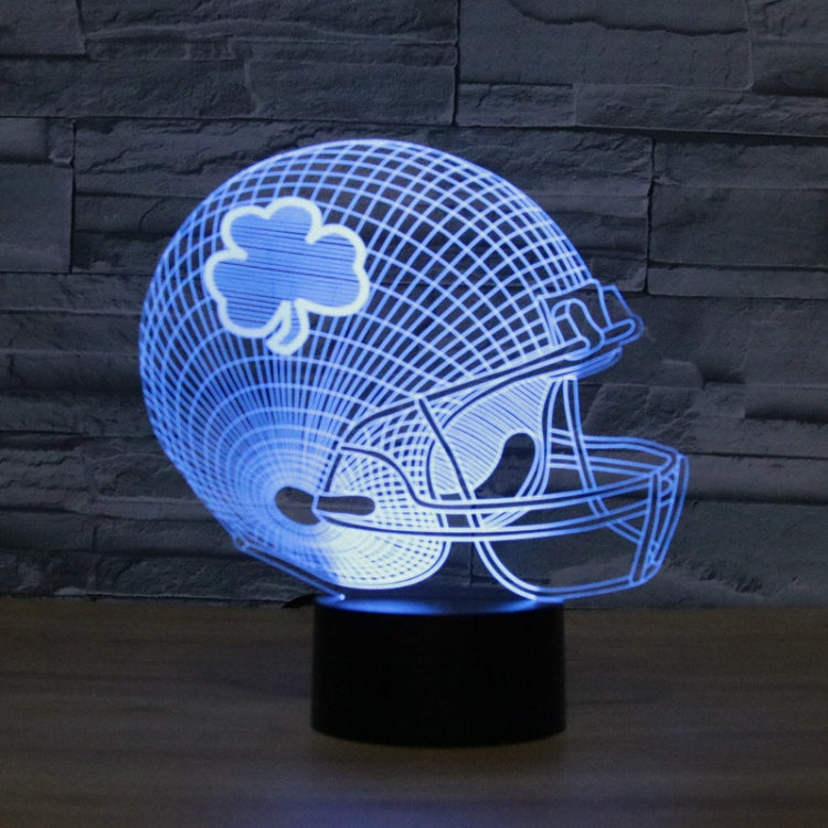 Rugby Hat Flower Shape 3D Colorful LED Vision Light Table Lamp, 16 Colors Remote Control Version - star-produkte.myshopify.com