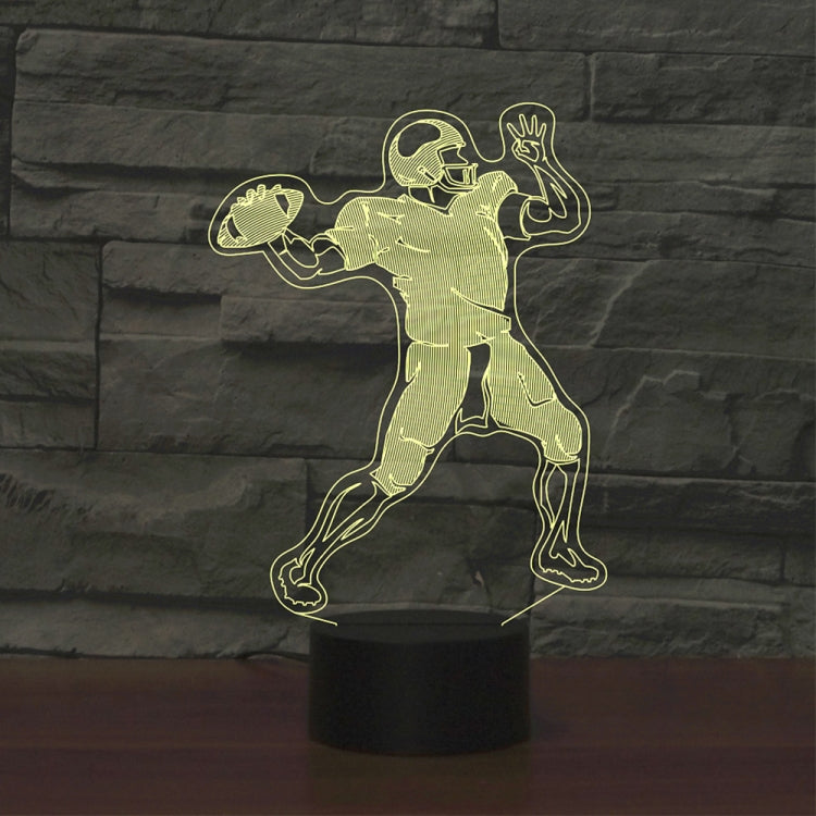 Rugby Quarterback Shape 3D Colorful LED Vision Light Table Lamp, USB & Battery Version - star-produkte.myshopify.com