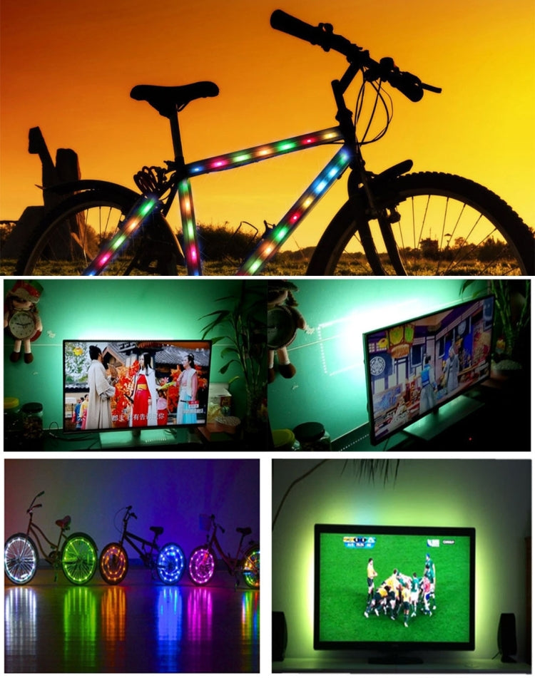 5m USB TV Epoxy RGB Rope Light, 24W 60 LEDs SMD 3528 White Board LED Lamp, DC 5V - star-produkte.myshopify.com