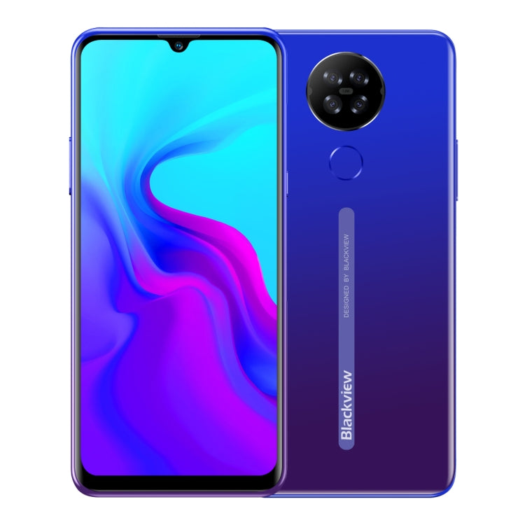 Blackview A80, 2GB+16GB, Quad Rear Cameras, 4200mAh Battery, 6.2 inch Android 10.0 MTK6737V/W Quad Core up to 1.25GHz, Network: 4G, Dual SIM(Gradient Blue) - star-produkte.myshopify.com