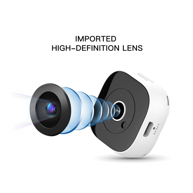 H9 Mini HD 1920 x 1080P 120 Degree Wide Angle Wearable Mini DV Camera, Support Infrared Night Vision & Motion Detection Recording & 32GB TF Card(White) - Star Produkte