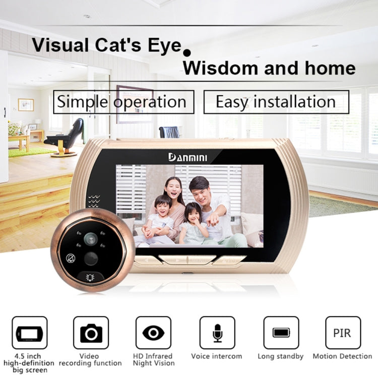 YB-45AHD-M 4.5 Inch Motion Detection Camera Video Smart Digital Door Viewer(Silver) - star-produkte.myshopify.com