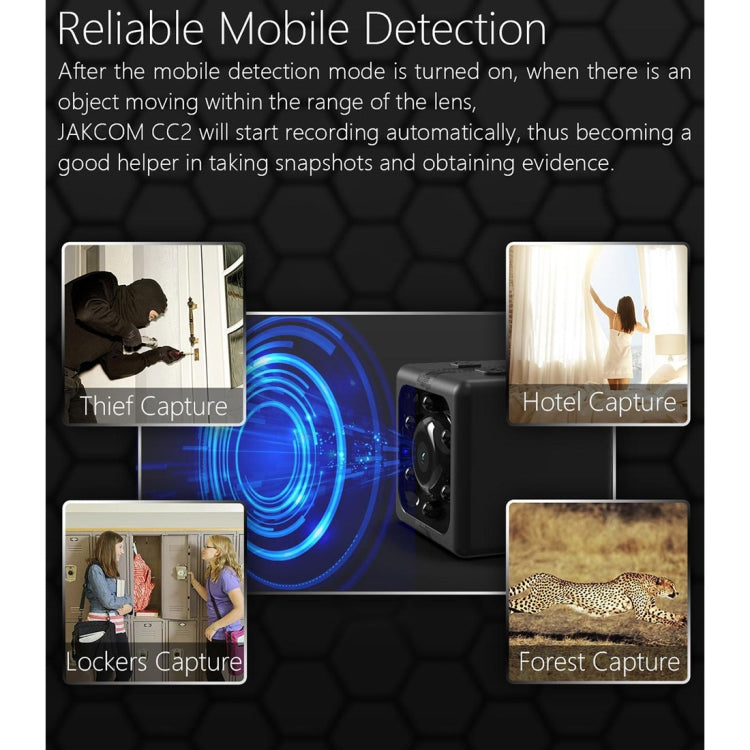 JAKCOM CC2 1080P HD Recorder Cube Smart Mini Camera, with Infrared Night Vision & Motion Detection(Black) - Star Produkte