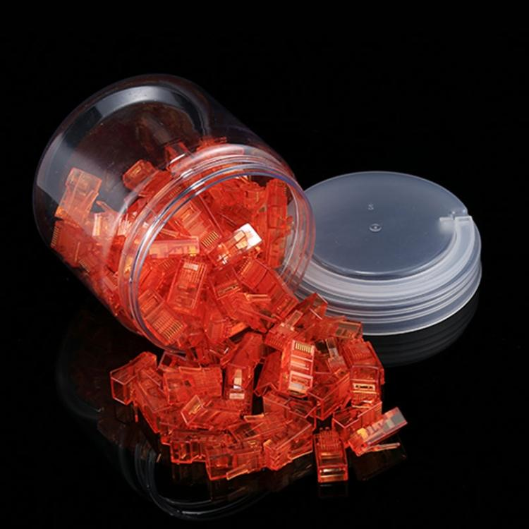 100 PCS Anpwoo Amp01 RJ45 Connector Modular Plug(Orange) - star-produkte.myshopify.com