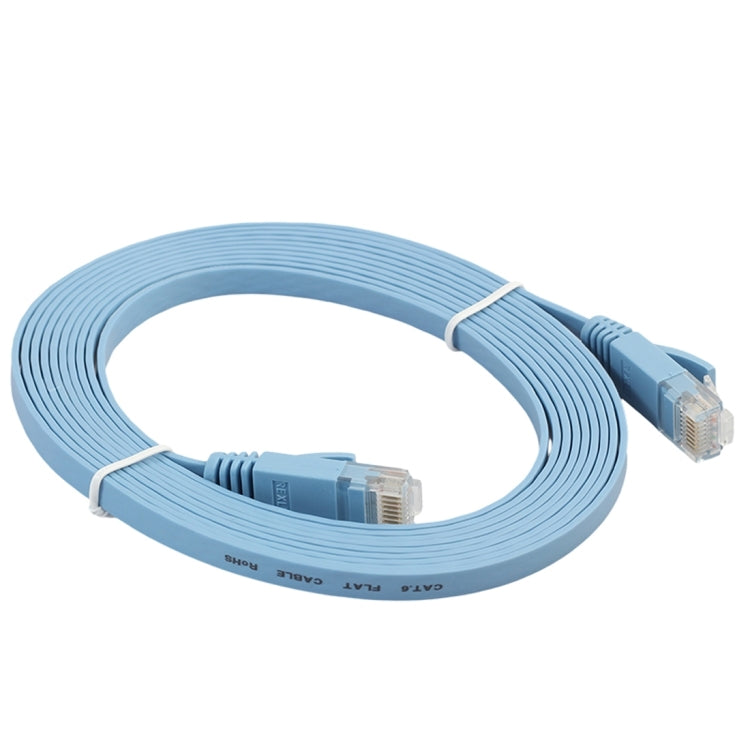 3m CAT6 Ultra-thin Flat Ethernet Network LAN Cable, Patch Lead RJ45 (Blue) - star-produkte.myshopify.com