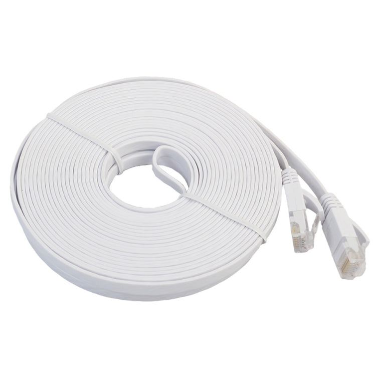 15m CAT6 Ultra-thin Flat Ethernet Network LAN Cable, Patch Lead RJ45 (White) - star-produkte.myshopify.com