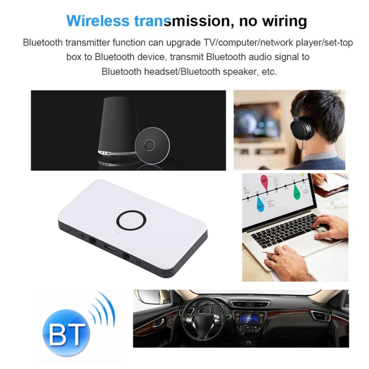 BYL-1813 2 in 1 Bluetooth V4.2 Audio Receiver / Transmitter Adapter(White) |
