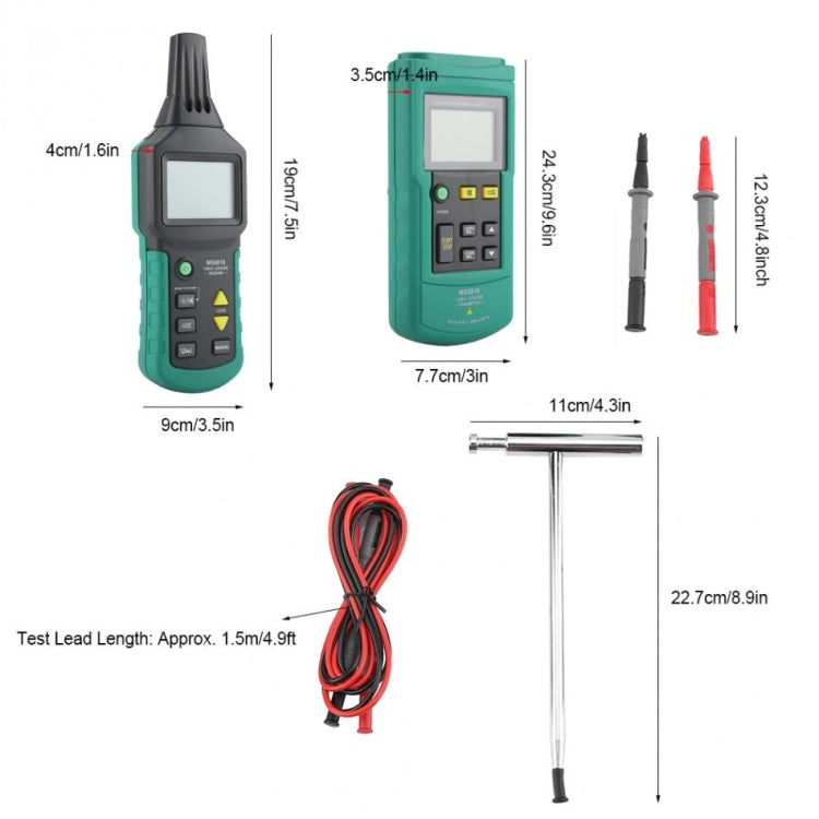 BSIDE MS6818 9V Buried Cable Finder Tracker, Measuring Range: AC / DC 12V-400V - star-produkte.myshopify.com