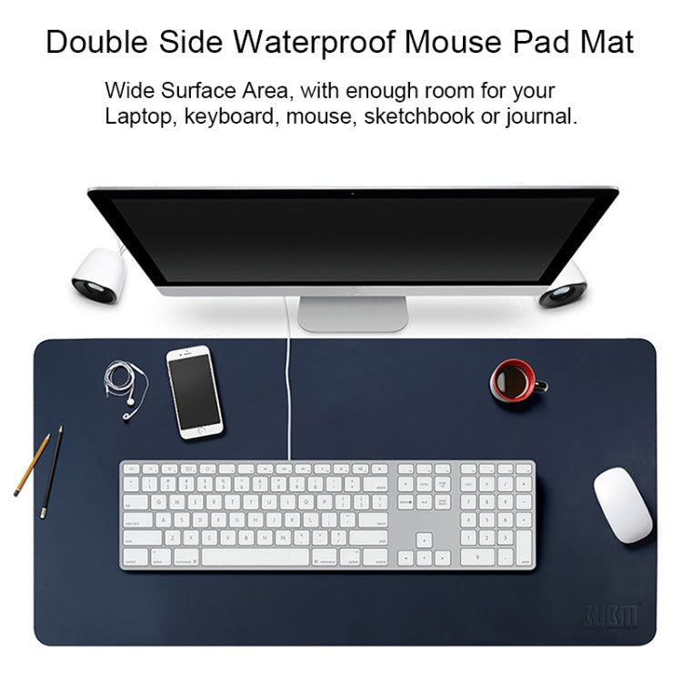 BUBM Multifunction Super Large Non-slip PU Leather Double-sided Mouse Pad Office Desk Mat, Size: 90 x 45cm(Orange) - Star Produkte