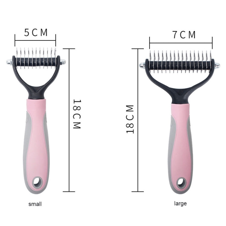 Pet Comb Beauty Cleaning Supplies Dog Stainless Steel Dog Comb, Size: 18x7cm (Blue) - star-produkte.myshopify.com