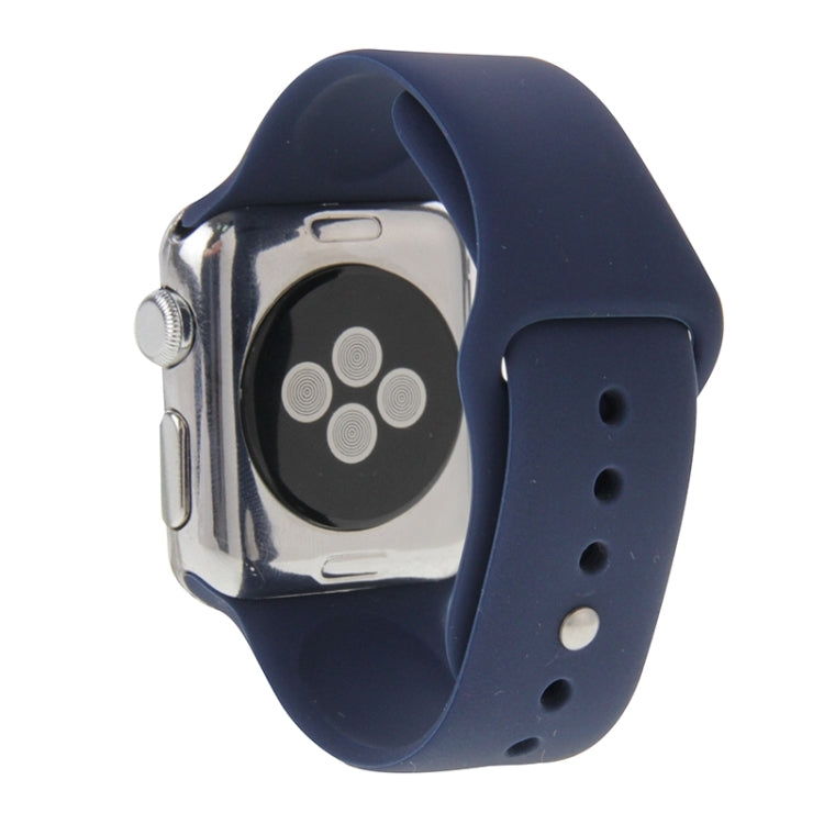 For Apple Watch Sport 38mm High-performance Rubber Sport Watchband with Pin-and-tuck Closure(Dark Blue) - star-produkte.myshopify.com