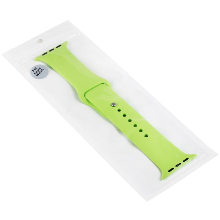 For Apple Watch Sport 38mm High-performance Rubber Sport Watchband with Pin-and-tuck Closure(Green) - Star Produkte