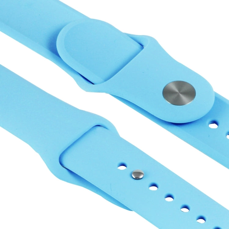 For Apple Watch Sport 38mm High-performance Rubber Sport Watchband with Pin-and-tuck Closure(Blue) - Star Produkte