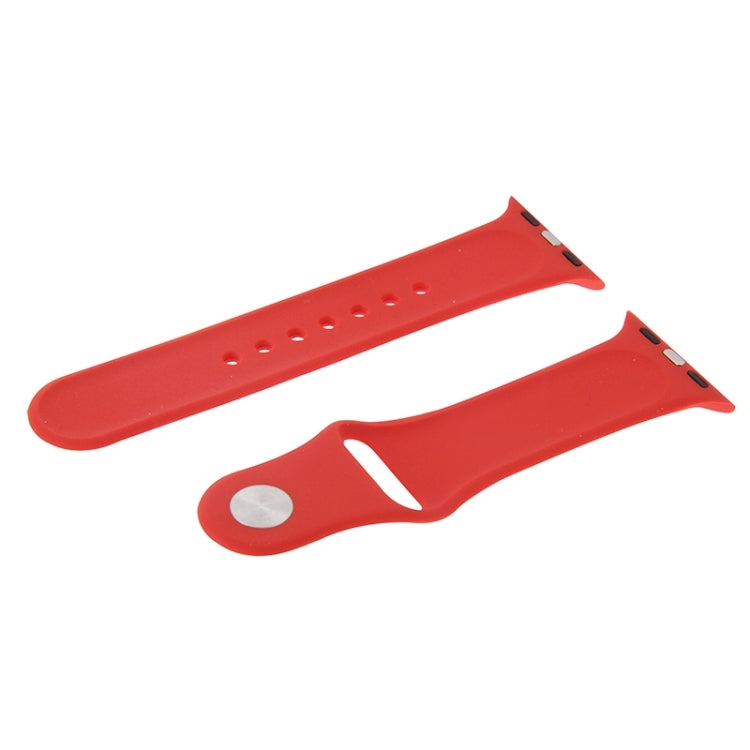 For Apple Watch Sport 38mm High-performance Rubber Sport Watchband with Pin-and-tuck Closure(Red) - Star Produkte