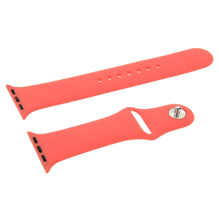 For Apple Watch Sport 42mm High-performance Longer Rubber Sport Watchband with Pin-and-tuck Closure(Rose Red) - Star Produkte