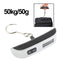 50kg x 50g Portable LCD Digital Hanging Travel Luggage Scale with Indoor Thermometer(Silver) - Star Produkte