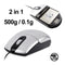 2 in 1 (USB Port Optical Mouse + 500g x 0.1g Electronic Pocket Scale)(Silver) - Star Produkte