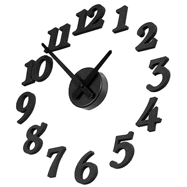 Creative DIY Adhesive Figure Wall Clock for Home Decoration, Diameter: 38.5cm(Black) - star-produkte.myshopify.com