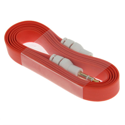 3.5mm Jack Noodles Style Earphone Cable for iPhone 5 / iPhone 4S & 4 / iPad/ iPod/ MP3, Length: 1m(Red) |