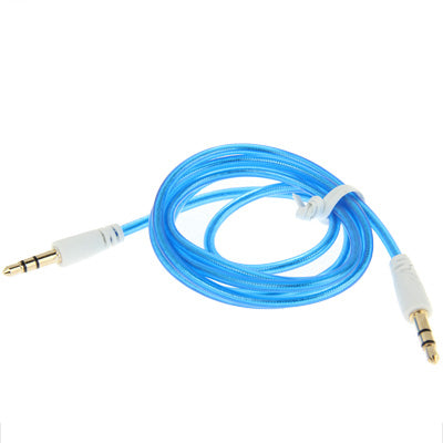 3.5mm Jack Earphone Cable for iPhone/ iPad/ iPod/ MP3, Length: 1m(Blue) |