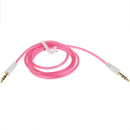 3.5mm Jack Earphone Cable for iPhone/ iPad/ iPod/ MP3, Length: 1m(Magenta) |