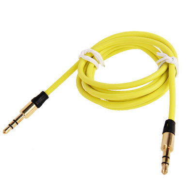 3.5mm Gold Plating Jack Earphone Cable for iPhone/ iPad/ iPod/ MP3, Length: 1m(Yellow) |