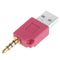 USB Data Dock Charger Adapter, For iPod shuffle 3rd / 2nd, Length: 4.6cm(Magenta) - star-produkte.myshopify.com