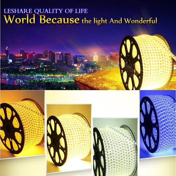 Epoxy Waterproof Rope Light, Length: 5m, White Light LED 3528 SMD LED Light with EU Plug Power Supply, 60 LED/m - star-produkte.myshopify.com