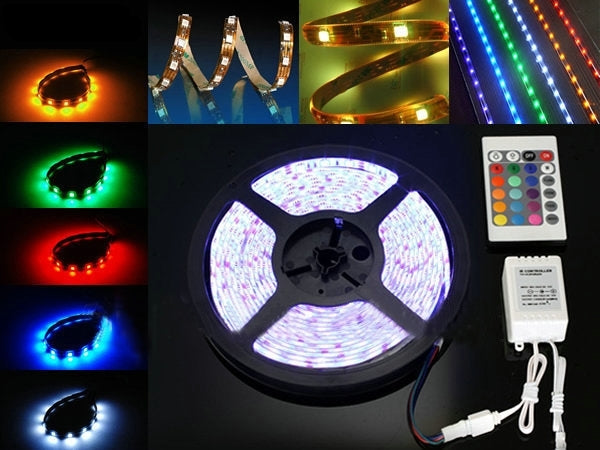 21.6W Casing Waterproof 5050SMD(IC 2811)RGB LED Light Strip, with LED Controller, 30 LED/m and Length: 5M - star-produkte.myshopify.com