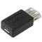 High Quality USB 2.0 AF to Micro USB Female Adapter(Black) | #Elektroniktrade.ch#