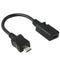 Mini USB Female to Micro USB Male Cable Adapter, Length: 13cm(Black) | #Elektroniktrade.ch#