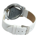 Stylish Question Mark Style Quartz Wrist Watch Wristwatch with Leather Band (White) - star-produkte.myshopify.com