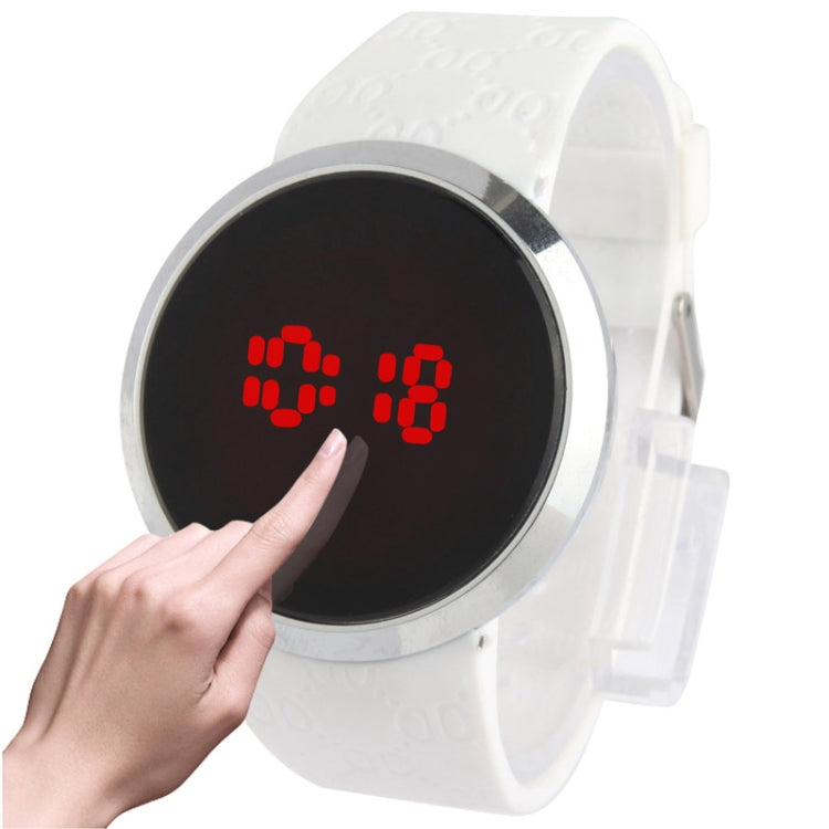Touch Screen Unisex LED Digital Watch Wristwatch Timepiece Silicon Strap ( White )(White) - star-produkte.myshopify.com