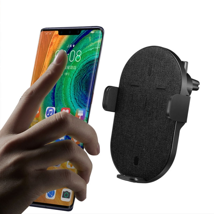 Huawei 27W Infrared Smart Sensor Car Wireless Charger Super Fast Charging Mobile Phone Holder, The Maximum Width: 85mm(Black) - star-produkte.myshopify.com