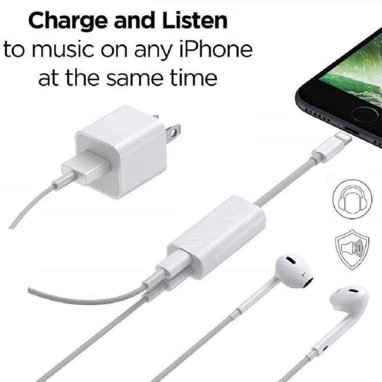 ZS-S1801 2 in 1 8 Pin Male to 8 Pin Charging + 8 Pin Audio Female Connector Earphone Adapter, Support Calls, Compatible with IOS 13 System |